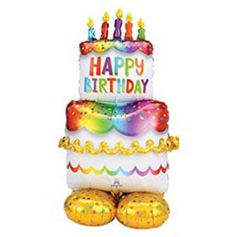 "55"" Birthday Cake Airloonz Balloon"