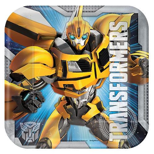 "Transformers™ 7"" Square Plates"