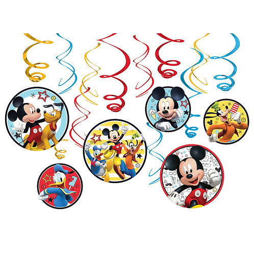 ©Disney Mickey on the Go Value Pack Foil Swirl Decorations