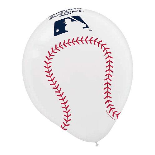 "MLB Baseball 12"" Latex Balloons"