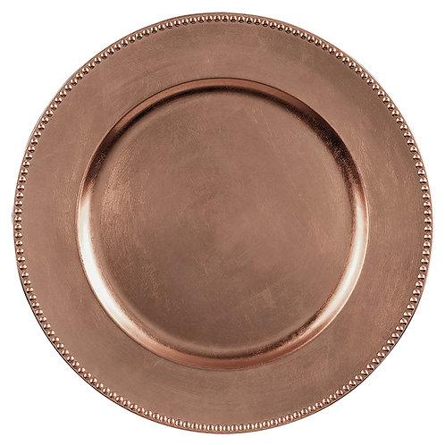 Round Metallic Plastic Charger