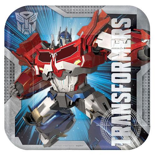 "Transformers™ 9"" Square Plates"