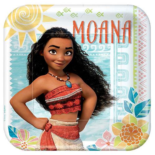 "Moana 9"" Square Plates"