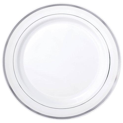 White Premium Plastic Round Plates