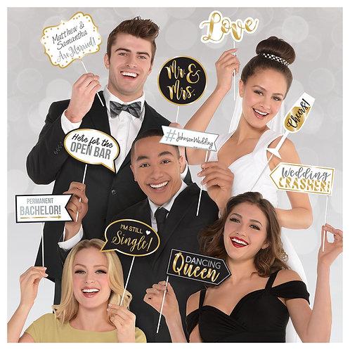 Glitter Gold Wedding Photo Booth Pros