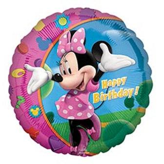 "17""HBD Minnie Mouse Balloon"