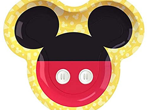 Disney Mickey Mouse Shaped Plates