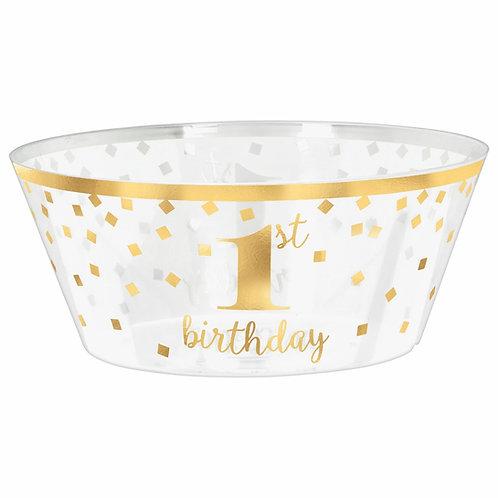 1st Birthday Large Plastic Serving Bowl
