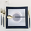 Thumbnail: Square Navy with Gold Trim Plastic Plates
