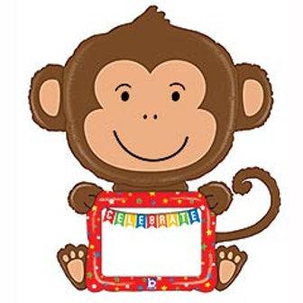 """43"""" 'Remarkables' Monkey Foil Balloon"""