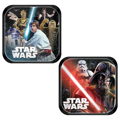 "Star Wars™ Classic 7"" Square Plates"