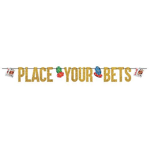 Casino Ribbon Letter Banner