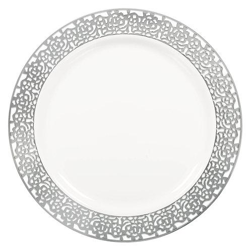 Lace Border Premium Plastic Round Plates