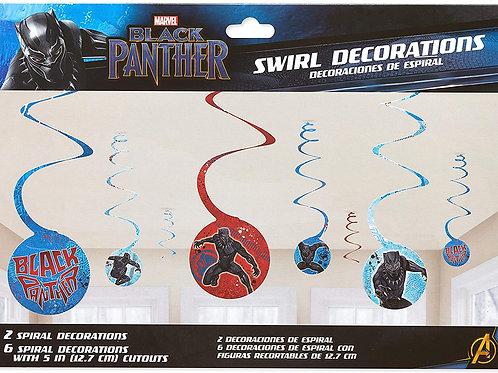 Black Panther Spiral Decorations
