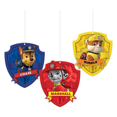 Paw Patrol™ Honeycomb Decorations