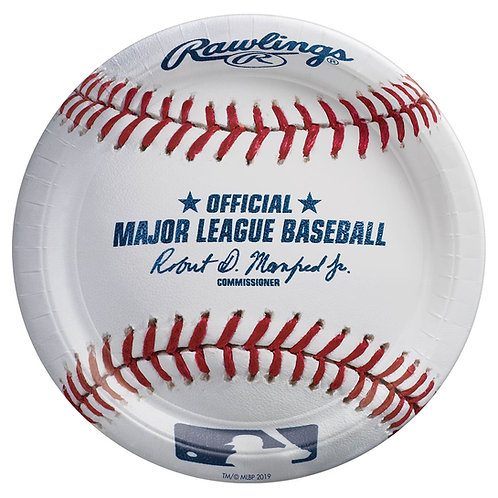 "MLB Baseball  7"" Paper Plates"