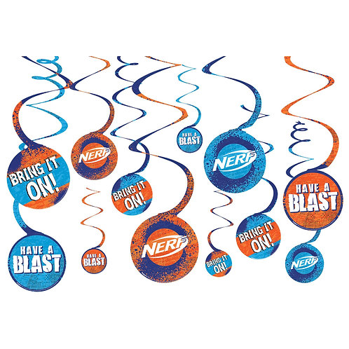 Nerf® Spiral Decorations