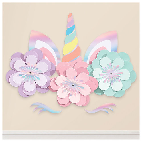 Magical Rainbow Unicorn Wall Decorating Kit
