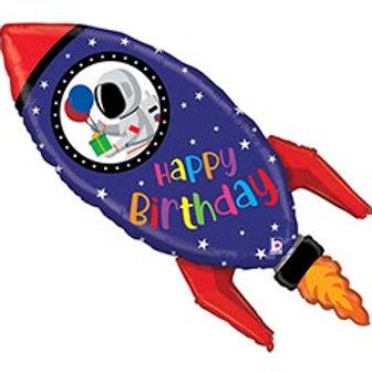 "40"" HBD Rocket Balloon"