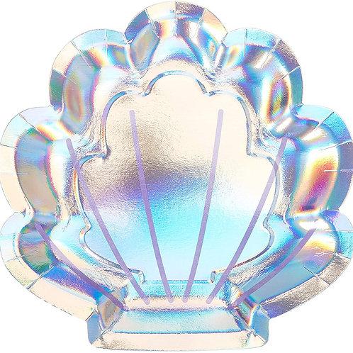 Mermaid Iridescent Shell Shaped Plate