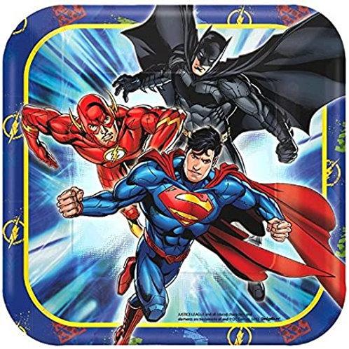 """Justice League™ 7"""" Square Plates"""