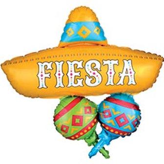 """32"""" Fiesta Balloon Cluster"""