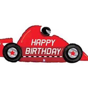 """43"""" HBD Racecar Balloon"""