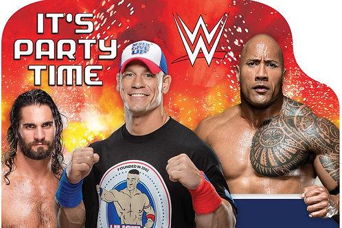 WWE Wrestling Postcard Invitations