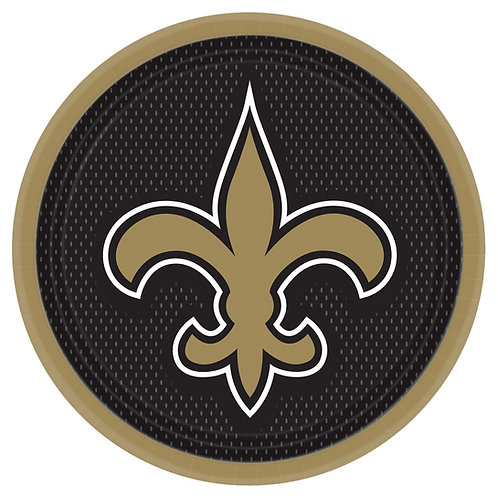 "New Orleans Saints 9"" Round Plates"