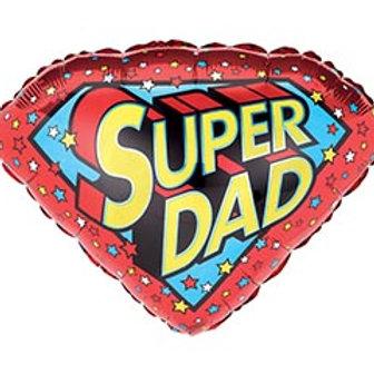 "18"" Super Dad Shield Balloon"