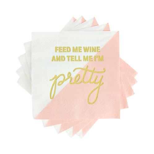 Feed Me Wine Cocktail Napkin
