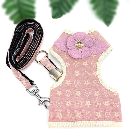 Novelty Baby Pink Dog Chest Harness & Leash Set