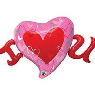 """46"""" I Heart U Balloon"""