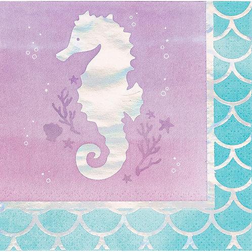 Mermaid 'Seahorse' Beverage Napkin