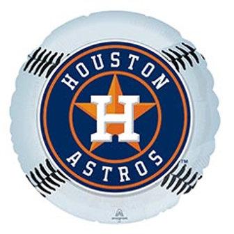 """17"""" Houston Astros Round Balloon"""