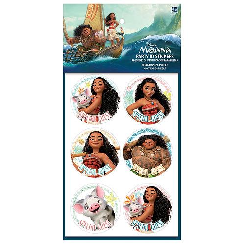 Moana Party ID Stickers