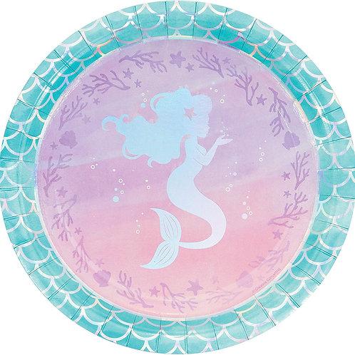 """Mermaid 9"""" Round Plates"""