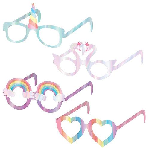 Iridescent Magical Rainbow Unicorn Glasses