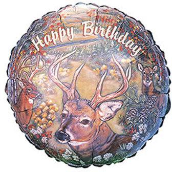 "17"" Happy Birthday Deer Scene Balloon"