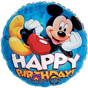"""17"""" HBD Mickey Mouse Balloon"""