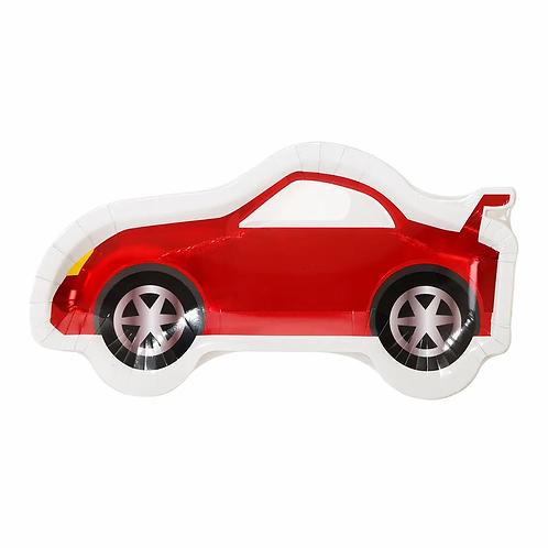 Party Race Car Shaped Plates