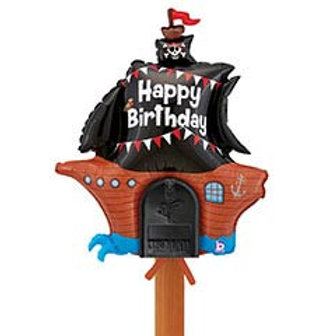Mailbox Birthday Balloon 'Pirate Ship'