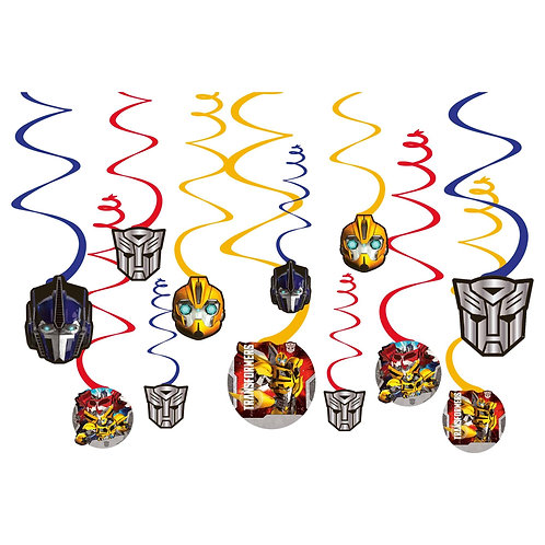 Transformers™ Value Pack Foil Swirl Decorations