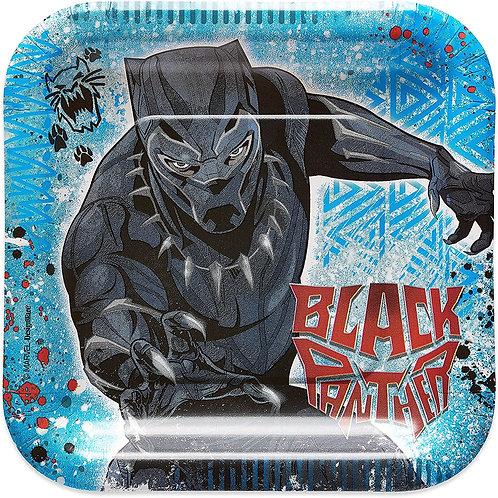 "Black Panther 7"" Square Plates"