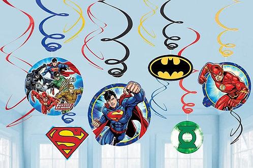 Justice League™ Swirl Decor Kit