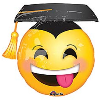 "26"" Awesome Grad Emoji Face Balloon"