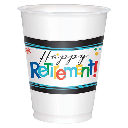 Officially Retired 'Happy Retirement' Plastic Cups