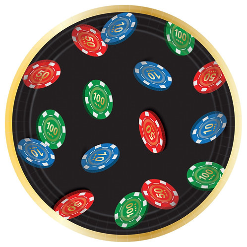Casino Roll The Dice Round Plates