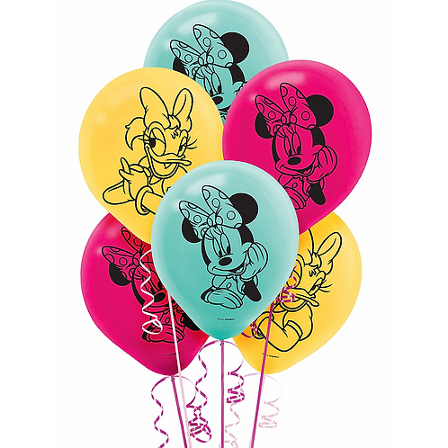 ©Disney Minnie Mouse Happy Helpers Color  Latex Balloons