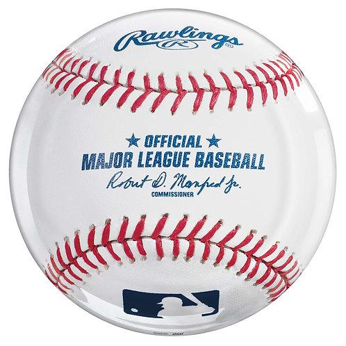 MLB Baseball Round Platter